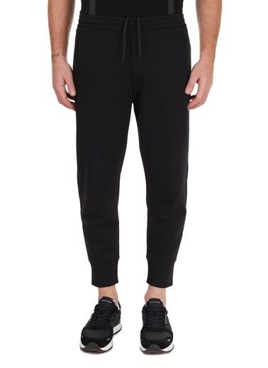 Emporio Armani  Logo Bantlı Pamuklu Jogger Pantolon Erkek Pantolon S 6H1P50 1Jhsz 0999 Siyah
